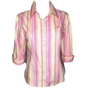 Lilly Pulitzer Women's Sz 6 Button Down Shirt Pink